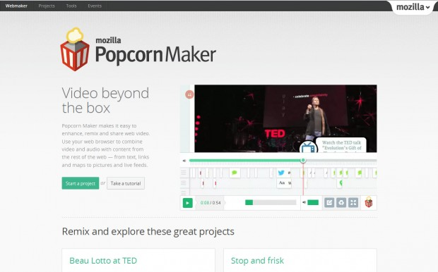 popcorn maker makes webvideo